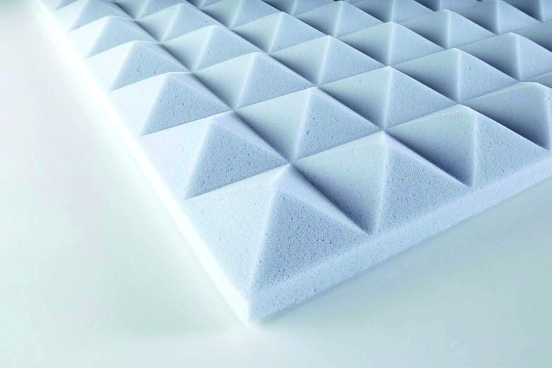Pyramidenschaum Basotect® selbstklebend - hellgrau 120x60x3 cm - 0, 72 m2 Eurokustik