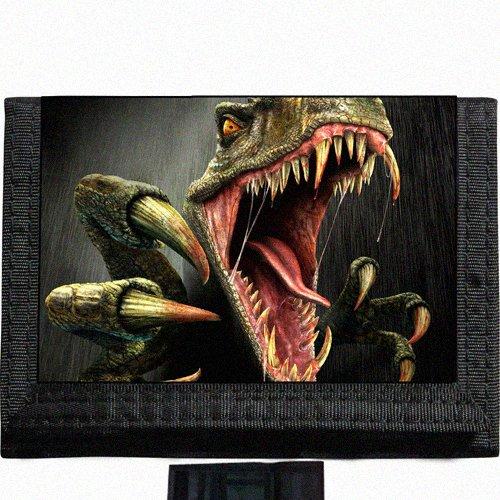 Valiciraptor dinosaur Black TriFold Nylon Wallet Great Gift Idea ()