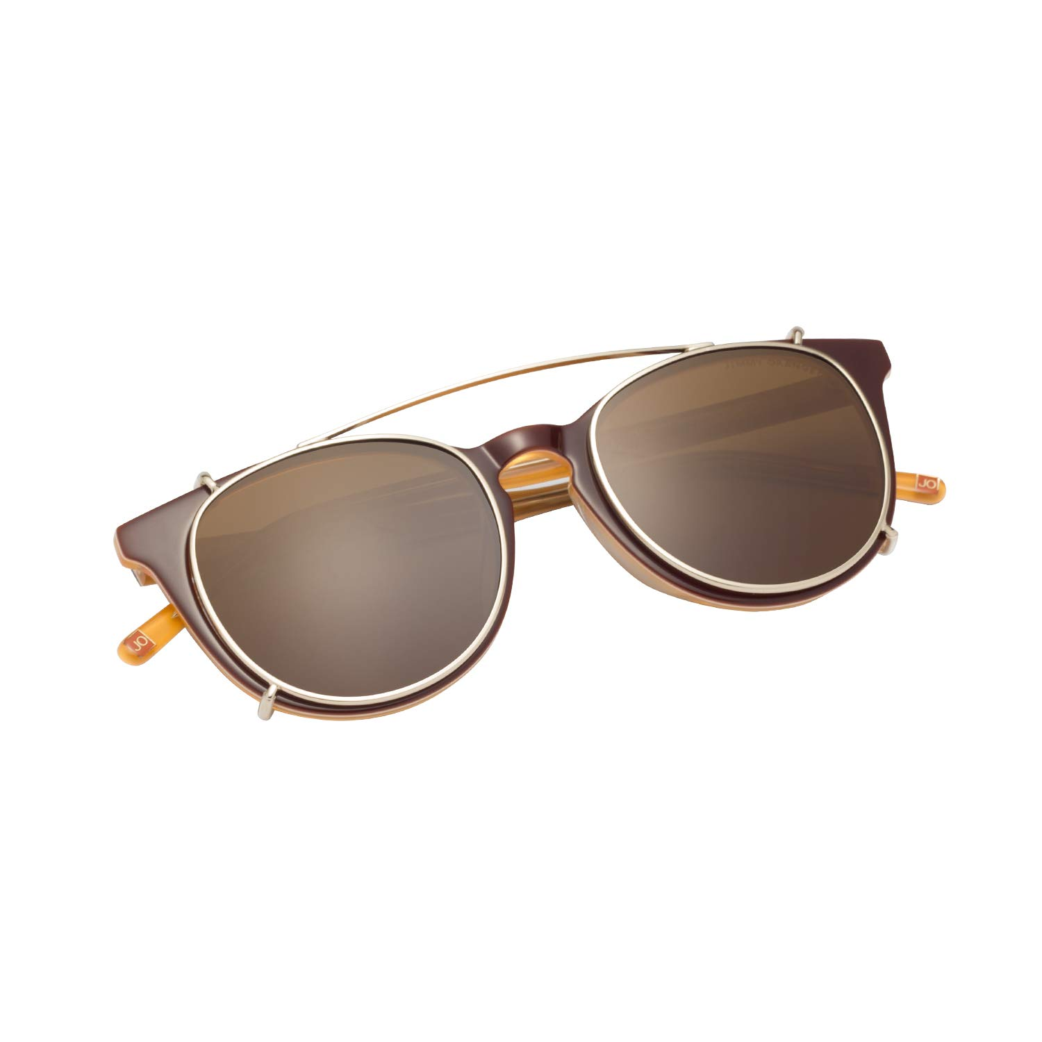 80ddf304f8 Amazon.com  JO Polarized Sunglasses Clip for Man Women with Optical Glasses  JO5115 Brown  Clothing