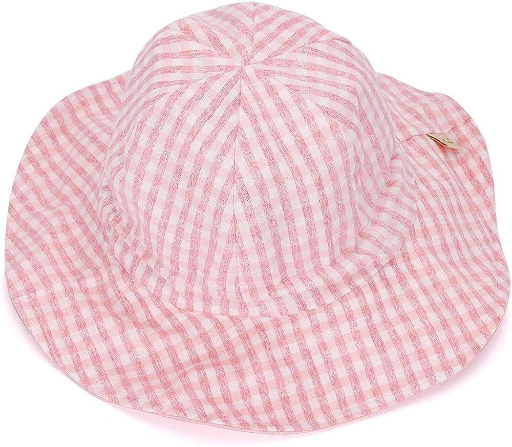 MK MATT KEELY Sombrero Bebe Verano Al Aire Libre Sombrero de Sol Reversible Gorra de Playa Plegable para Ni/ños con Correa Ajustable Edad 1-3