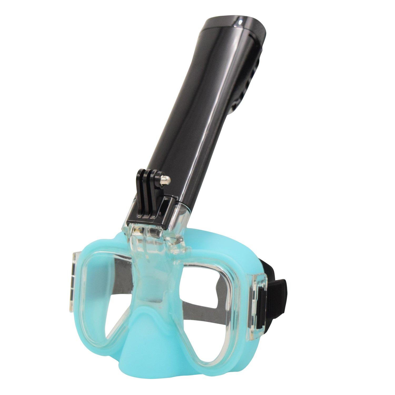 silami semi-faceシュノーケルマスクシュノーケルゴーグルとドライトップシュノーケリングチューブ、anti-leak、曇り止め、テクノロジー無料の呼吸、with Detachable Goproカメラマウント  グリーン B07CY18VBR