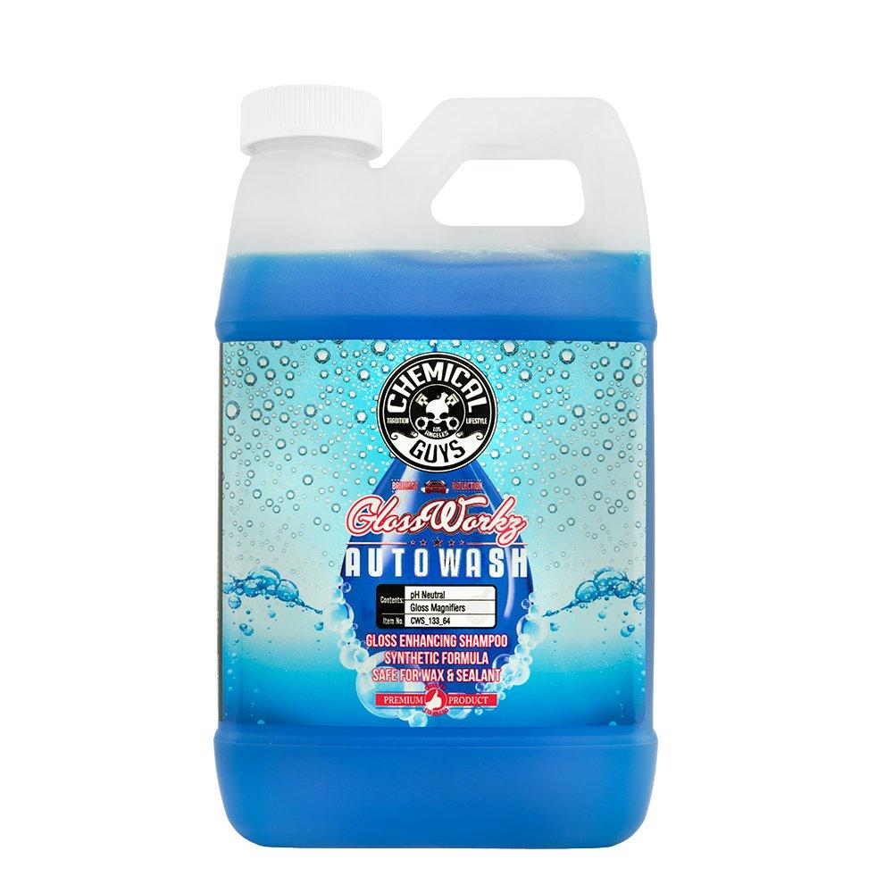 Chemical Guys CWS_133 Glossworkz Auto Wash Gloss Booster (64 oz), 64. Fluid_Ounces