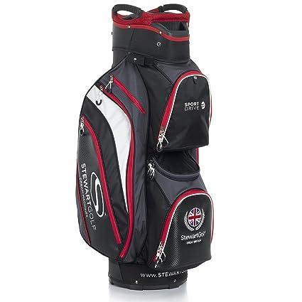 Stewart Golf Sport Disco Bolsa de Golf, Color Negro/Rojo ...