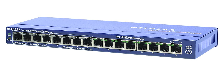 NETGEAR FS105-300UKS ProSAFE 5 port Fast Ethernet 10//100 Unmanaged Switch with Lifetime Warranty,Blue