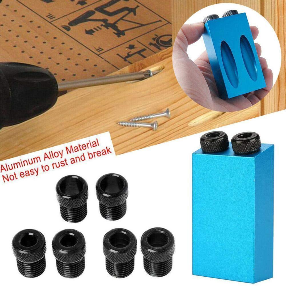 Rosesummer Juego de herramientas de perforaci/ón para carpinter/ía y carpinter/ía 6//8//10 mm