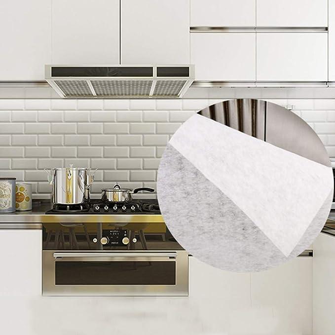 QINGJIANG 2 piezas de filtro de campana de cocina, filtro de humo, pegatinas de papel, grasa campana de cocina filtros antiaceite Blue Bag 45 * 90cm: Amazon.es: Grandes electrodomésticos
