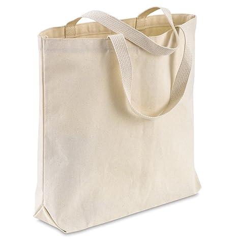 amazon com bulk canvas tote bags 12 pack design your own