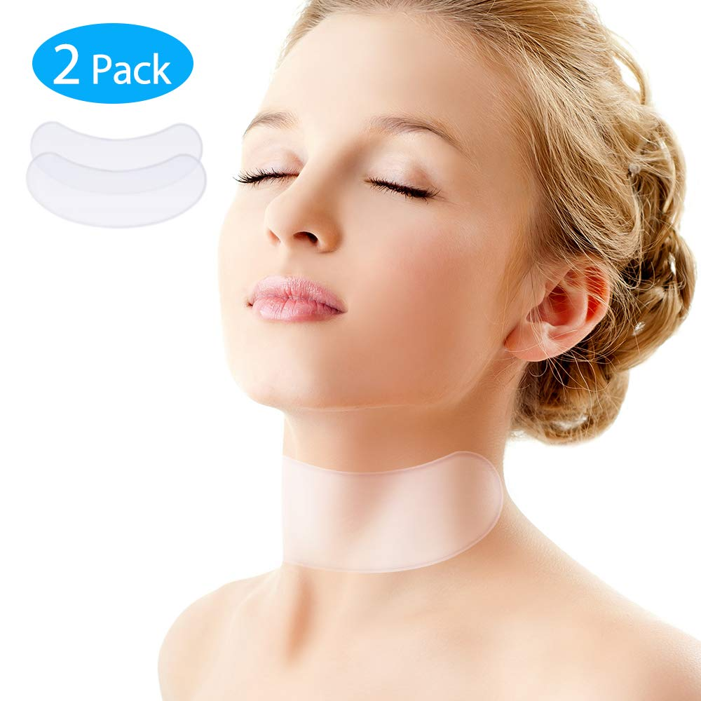 Silicone Anti Wrinkle Neck Care Pad-Set of 2 Neck Tape Wrinkle Pads for Neck Wrinkle Prevention and Treatment Anti-Aging Transparent Pads Udream