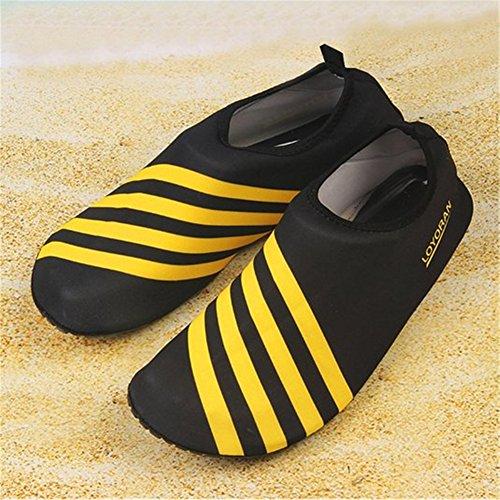 Saguaro Blootsvoets Waterhuid Schoenen Aqua Sokken Voor Strand Zwemmen Surf Yoga Geel 6