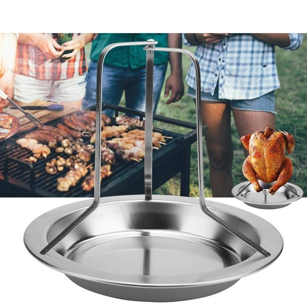 Hazmemejor BBQ Chicken Rack - 1Pc Stainless Steel Upright Roast Chicken Holder Roaster Rack Barbecue Grilling BBQ Tools by Hazmemejor