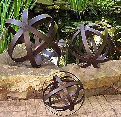 Iron Garden Spheres Retro Set Of 3 Garden Decor
