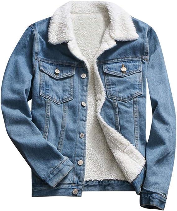 Veste en jean femme avec col et manches moumoute | Jean Spot