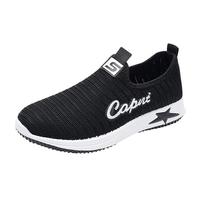 Darringls Zapatillas de Deporte,Malla Tejida Tejida Calzado Deportivo Casual Zapatos de Suela Gruesa Zapatillas