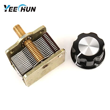 YEECHUN Broadcast Gang Single Unit Air Dielectric Variable Capacitor  12-365pF 250MΩ with Hat