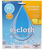 E-Cloth Bathroom Pack 2 Cleaning Cloths Removes Grease & Grime