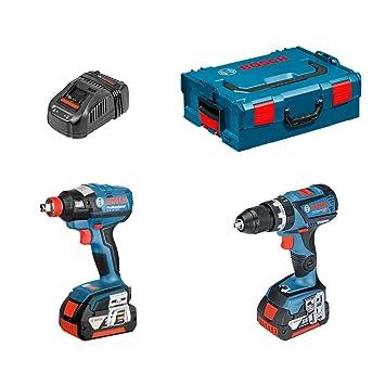 Kit Bosch GSB 18-V-EC + GDX-18-V-EC (2 baterías x 5,0Ah + ...