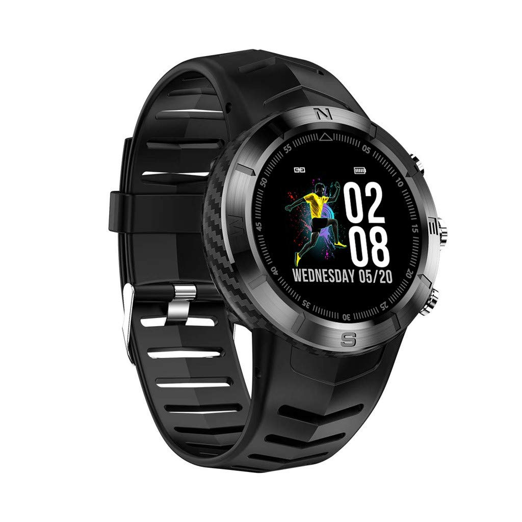 Yezijin DT08 Round FullTouch Screen IP67 Waterproof Heart Rate Monitor Sport SmartWatch for Father Men Student Youth Teens Boyfriend Lover's Birthday