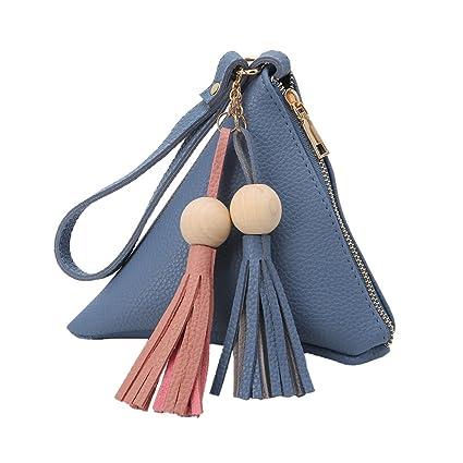 GROOMY Moda Mujer Borla Beads Embrague Triángulo Forma Bolso ...