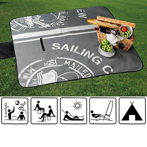 XL Picknick Decke / Stranddecke / Campingdecke / Isomatte / besch. Unterseite / STEMPEL / grau