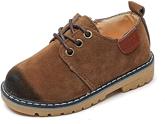Kid's Suede Leather Oxford School Shoes