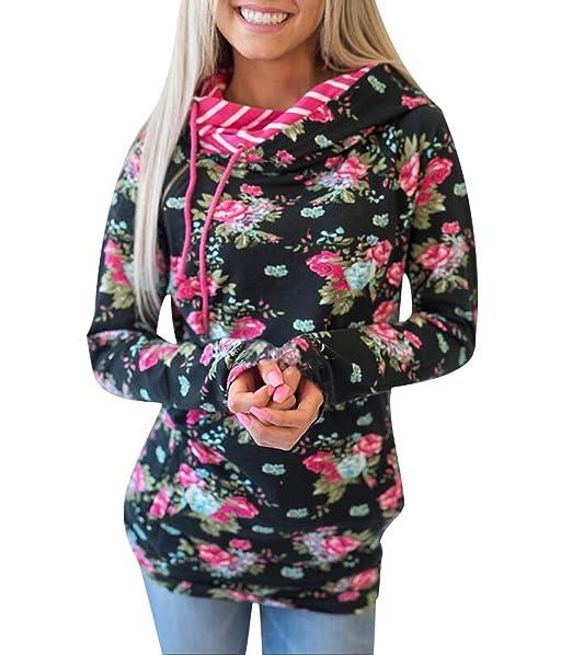 Sudaderas Con Capucha Mujer Sudadera Estampadas Flores Chica Hoodies Oversize Pullover Juveniles Camisas Camisetas Manga Larga Anchas Grandes Invierno ...