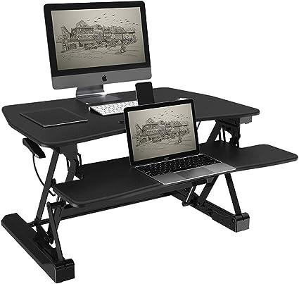 WTT PC Workstation Sit Stand Mesa de Escritorio Mesa ...