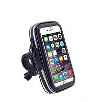VENI MASEE Wasserdichtes Fahrrad Fahrrad Halterung mit Transparentem, Angenehmem Beutel Koffer 360 Grad drehbares Fahrrad Zubehör für Smartphones GPS und Andere Kompatible Geräte 5 ''/5.5 ''