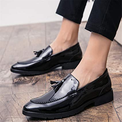 Amazon.com: Hilotu Mens Modern Dress Shoes Classic Tassel Slip-on Leather Lined Driver Loafer Comfortable Formal Loafer Shoes: Clothing
