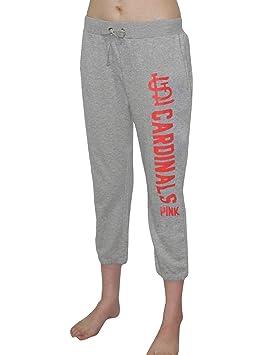 Pink Victoria s Secret Mujer MLB Los Angeles Cardinals Yoga Crop Pants, gris,