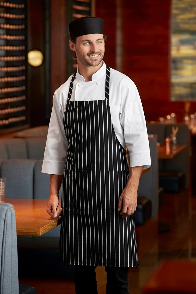 Chef Works Chalk Stripe Bib Apron