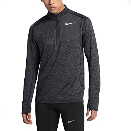 new styles 361e6 d66bd Amazon.com  NNike Therma Sphere Element Men s Long Sleeve Half-Zip Running  Top, Black Heather Anthracite, Large  Sports   Outdoors