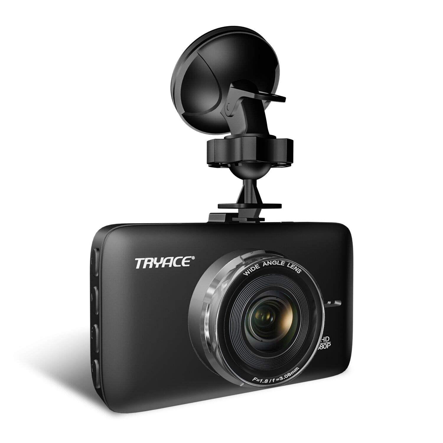 TryAce Dash Cam FHD 1080P Car DVR Dashboard Camera with 3'' LCD Screen Parking Mode, WDR, G-Sensor, Loop Recording and Motion Detection Night Vision Car Recorder