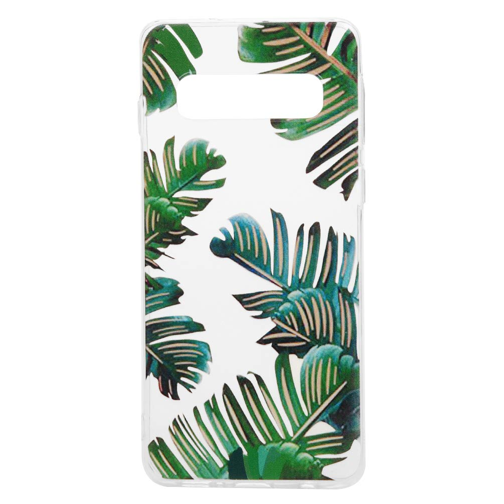 Galaxy S10 Case, Cover Ultra Slim HD Clear & Full TPU Soft Frame Hybrid Shockproof Bumper Drop Pretective Skin Shell for Galaxy S10, Banana Leaf by SUPWALL (Image #2)