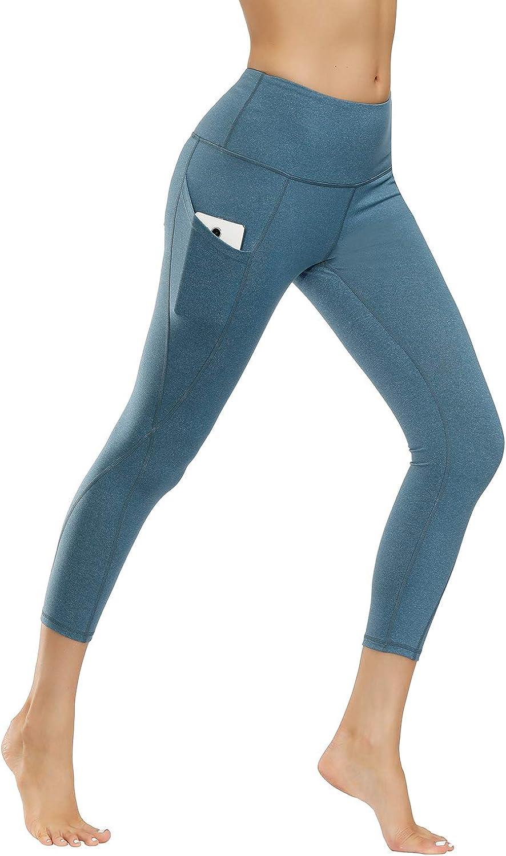 Leyorie Fitness Capris Yoga Pants Geometric Multicolor Print Stretch Tights Cropped Leggings for Women