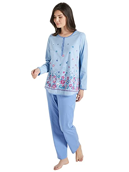 acheter pas cher 20f98 b4f9d Lingerelle - Pyjama en Maille Pur Coton - Femme: Amazon.fr ...
