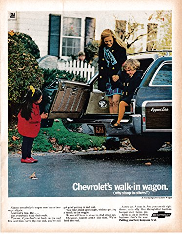 1969 Chevrolet Kingswood Estate Wagon Walk-In Original 13.5 * 10.5 Magazine Ad Chevrolet Kingswood Wagon