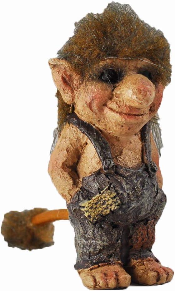 Troll manos en bolsillos Escultura regalo peque/ño unique Home Decor de fantas/ía H9/cm