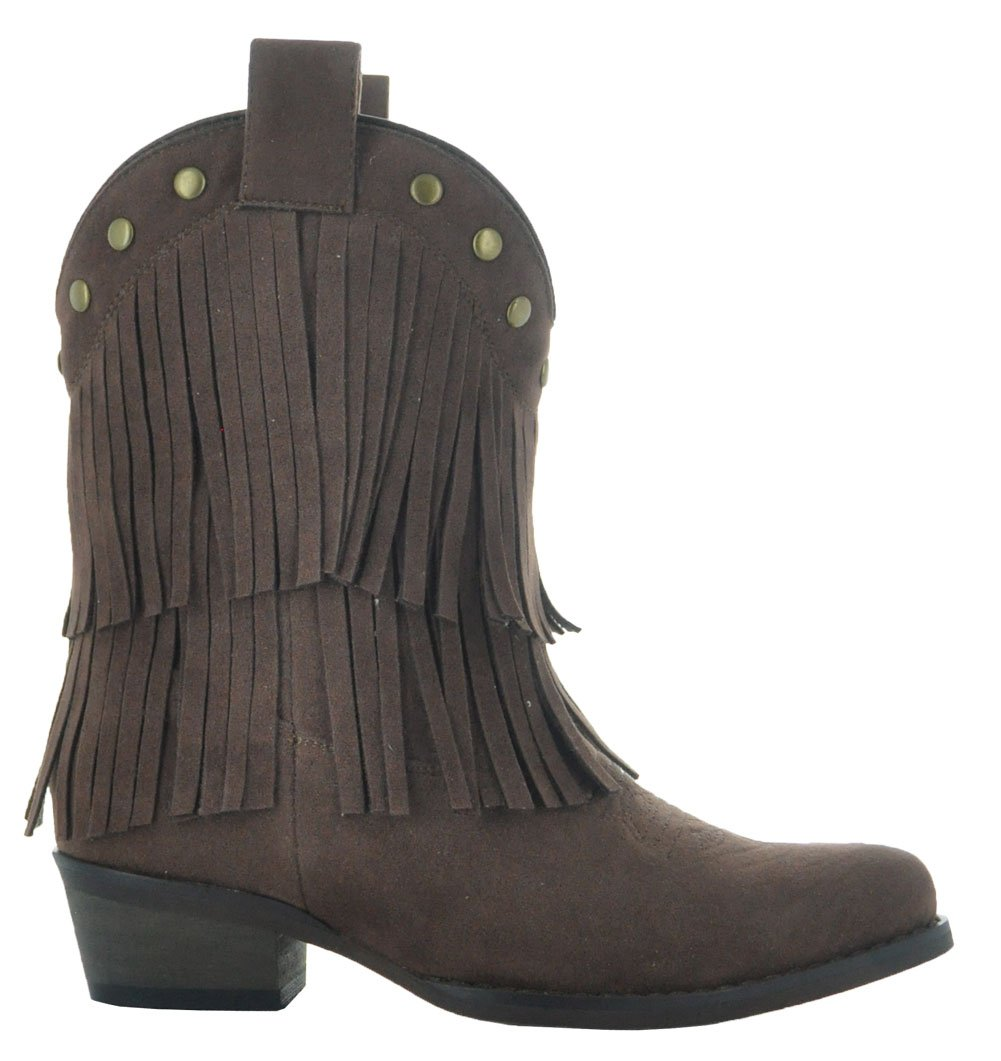Little Kids Fun Fringe Brown Cowgirl Boots by Country Love Boots (1 Little Kids, Brown) by Country Love Boots (Image #3)
