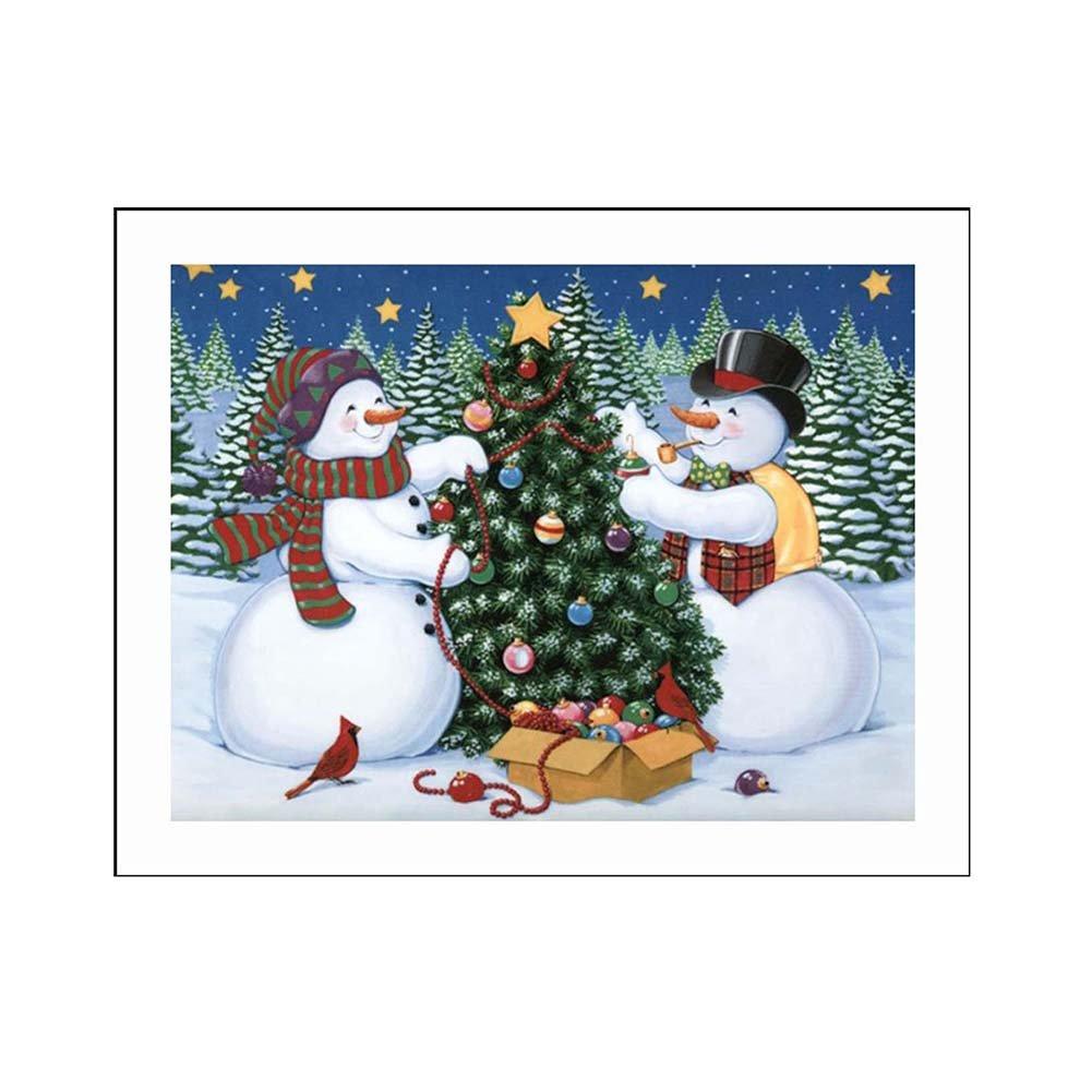 millet16zjh雪だるまクリスマスツリー5dフルダイヤモンド絵画壁装飾HandicraftツールキットDIYカラフル壁装飾インドアオーナメント B07FT9QGNY 1#