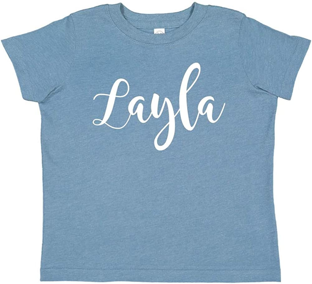 My Name is Layla Personalized Name Toddler//Kids Short Sleeve T-Shirt Everyone Hi