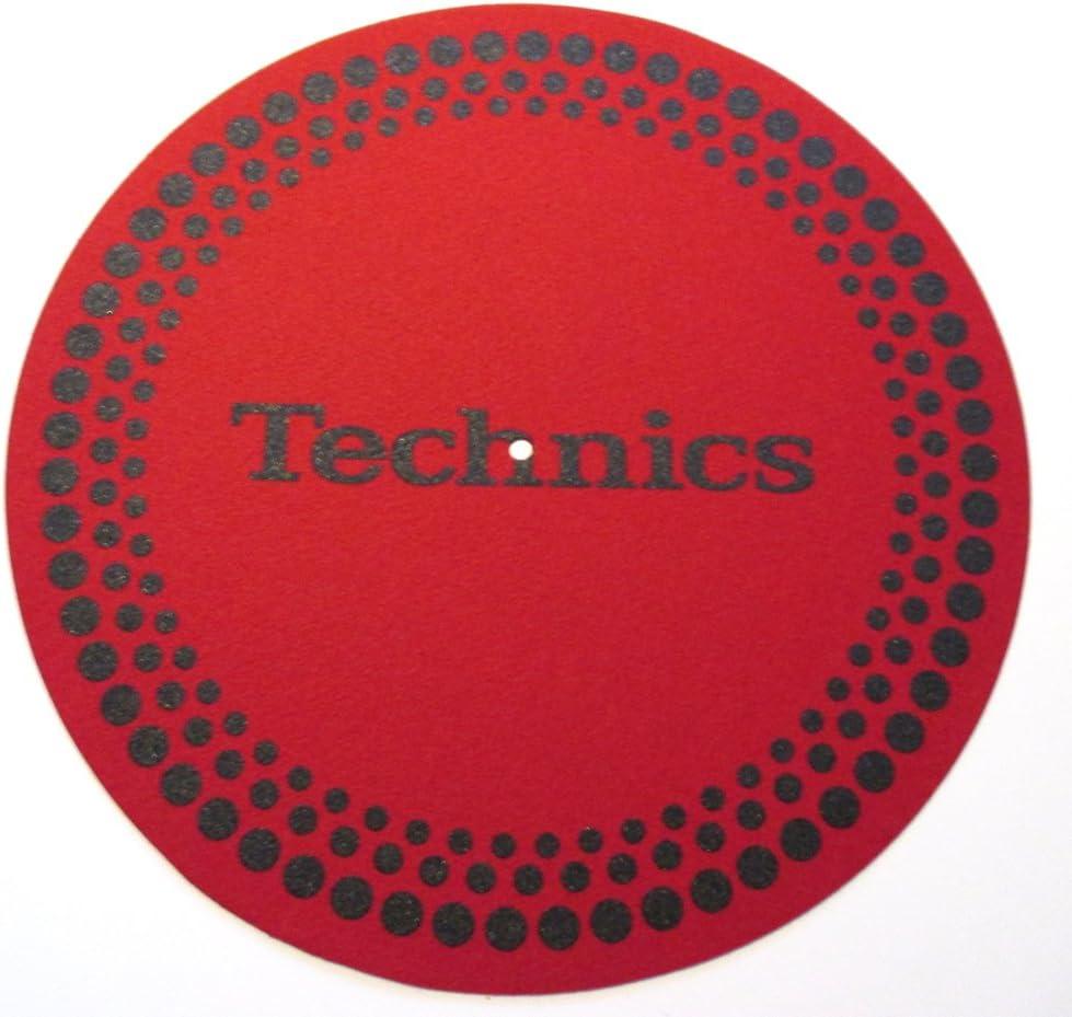 Technics Slipmats Plattentellerauflage aus Filz f/ür LP Vinyl gepunktet Rot twist4/®