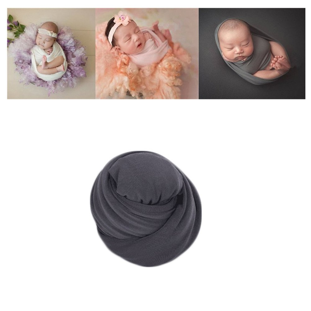 Newborn Baby Photo Props Blanket Stretch Without Wrinkle Wrap Swaddle for Boy Girls Photography Shoot