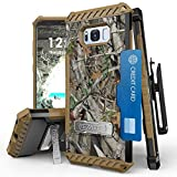 Galaxy S8 Case, [Tri Shield] Hybrid Rugged Full Body Armor Defender Cover with kickstand, Card Slot & 360°Belt Clip Holster For Samsung Galaxy S8 (Camo)