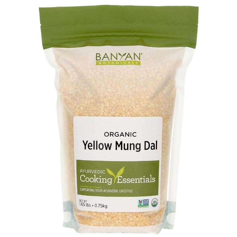 Banyan Botanicals Organic Yellow Mung Dal - Certified USDA Organic - Non GMO - Vegan - GF - Ayurvedic Food for Kitchari & Cleansing, 1.65 lbs
