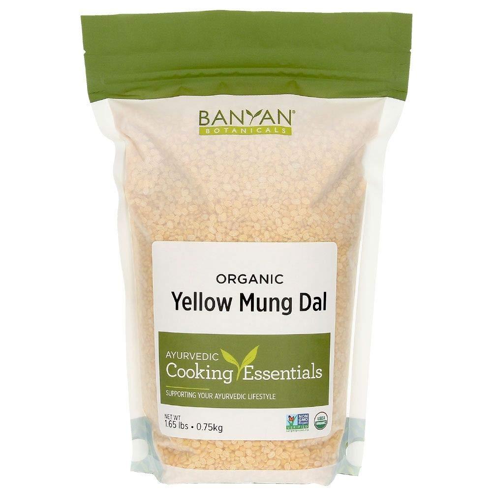 Banyan Botanicals Yellow Mung Dal - USDA Organic - Non GMO - Ayurvedic Food for Kitchari