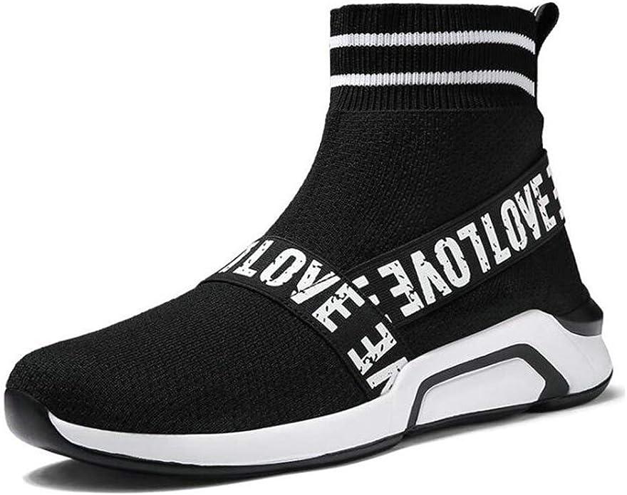 Calcetines de Las Mujeres Zapatillas de Deporte Tela elástica Transpirable Tejido de la Mosca Zapatos Deportivos para Correr Malla Alta Jogging Entrenadores para Damas: Amazon.es: Zapatos y complementos