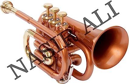 Nasir Ali ptr-10 cobre trompeta de bolsillo en Si Bemol: Amazon.es ...
