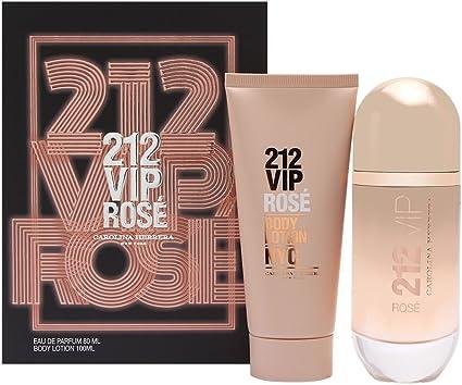 CAROLINA HERRERA 212 VIP ROSE EDP 80 ML + B/L 100 ML SET REGALO: Amazon.es: Belleza