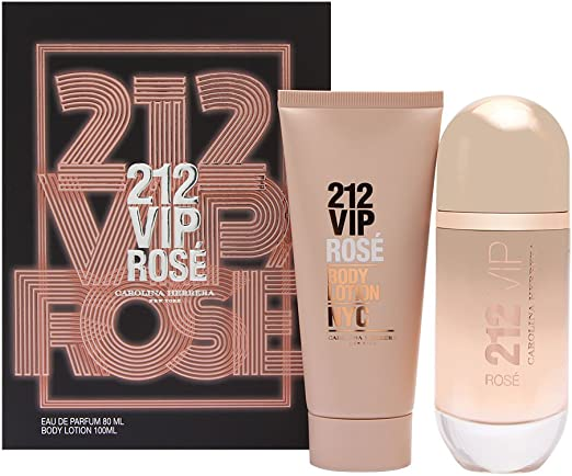 CAROLINA HERRERA 212 VIP ROSE EDP 80 ML + B/L 100 ML SET REGALO: Amazon.es: Belleza