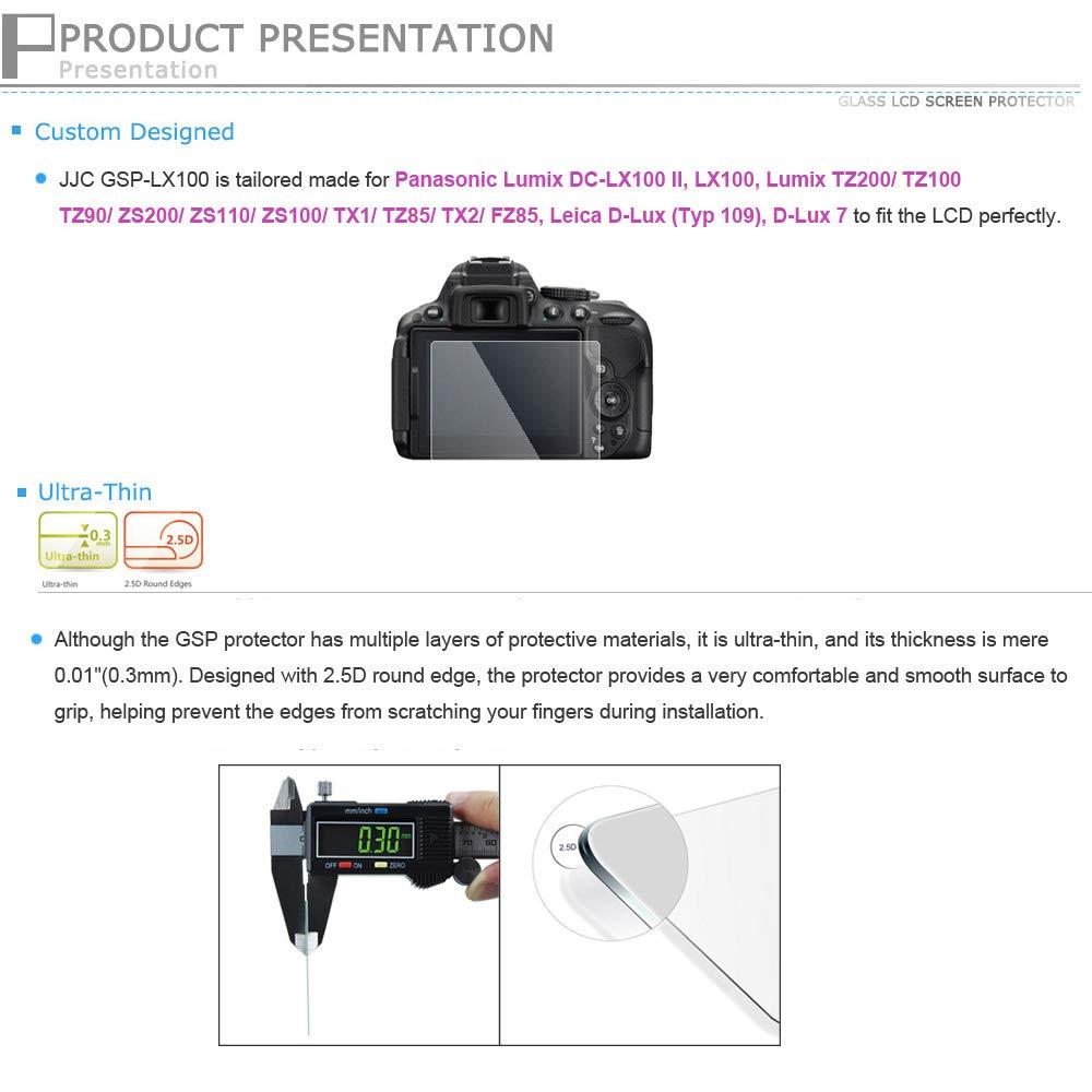 Trend/JJC Protector de Pantalla LCD de Cristal Líquido óptico para Panasonic LX100, Leica D-Lux (Typ 109): Amazon.es: Electrónica